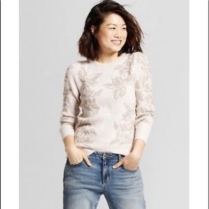 🎟A New Day Women's Floral Shine Pullover Sweater
